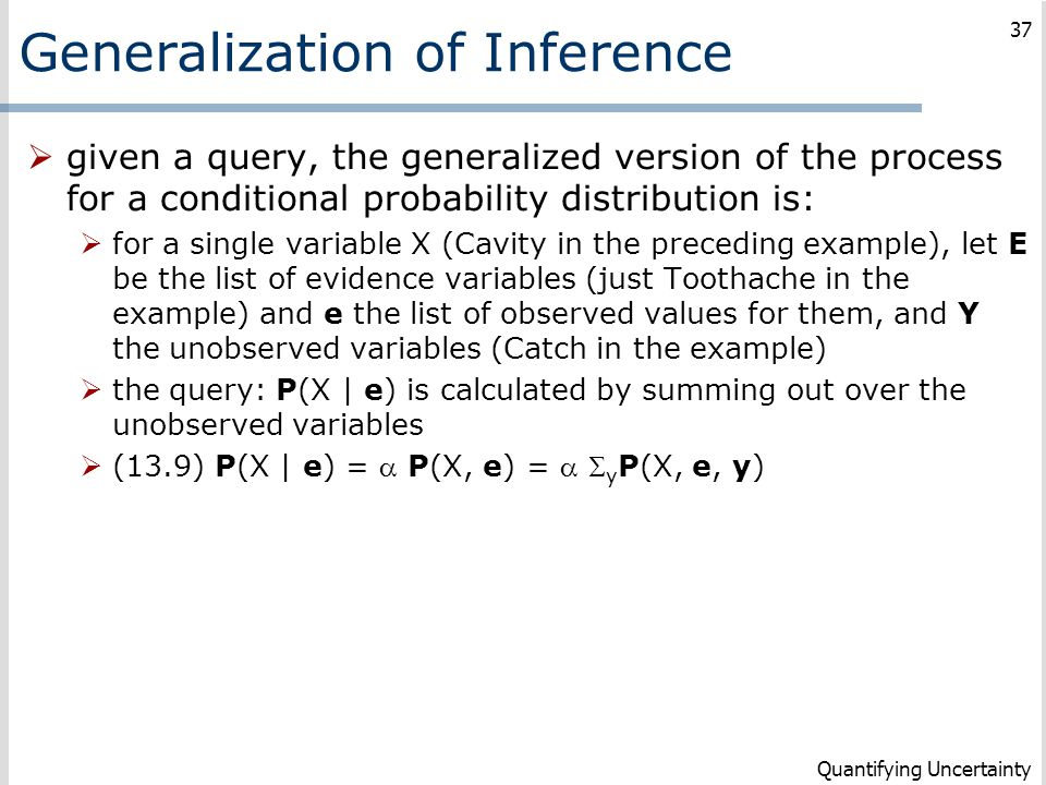 Generalization of Inference
