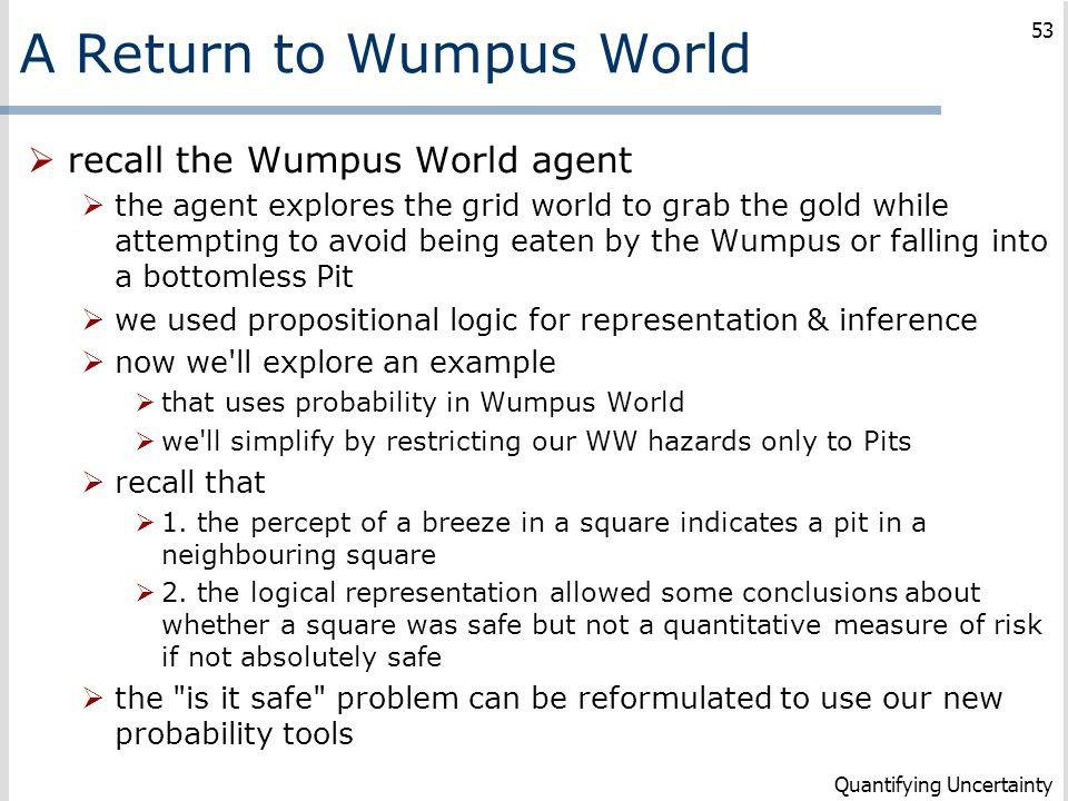 A Return to Wumpus World