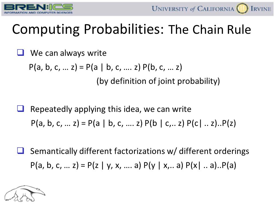 Computing Probabilities: The Chain Rule