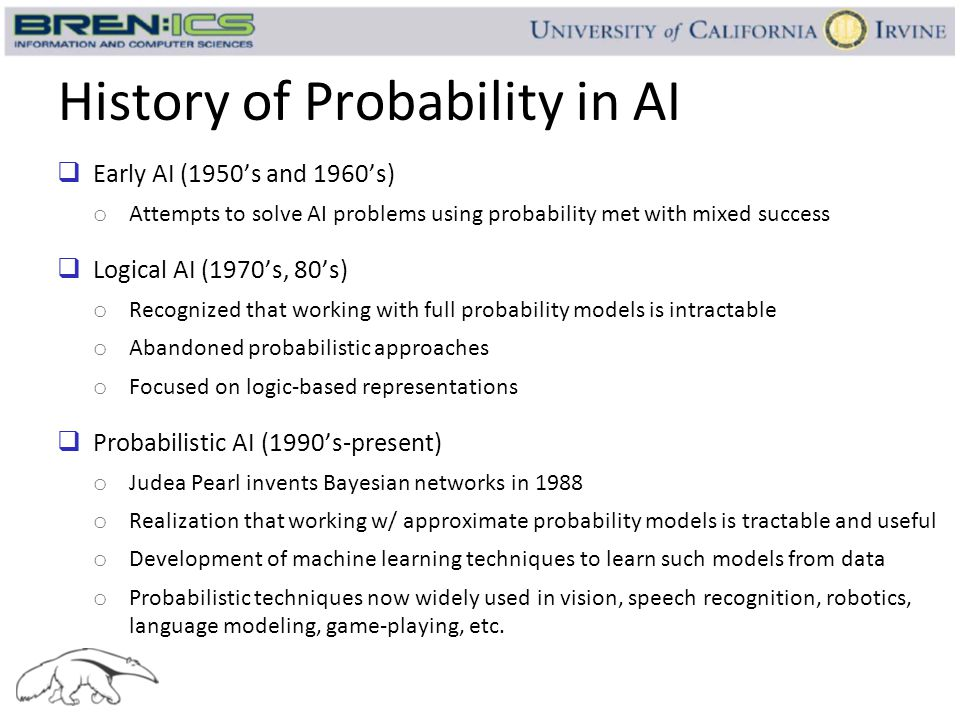 History of Probability in AI