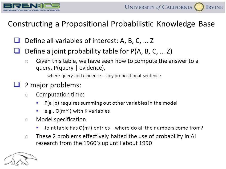 Constructing a Propositional Probabilistic Knowledge Base