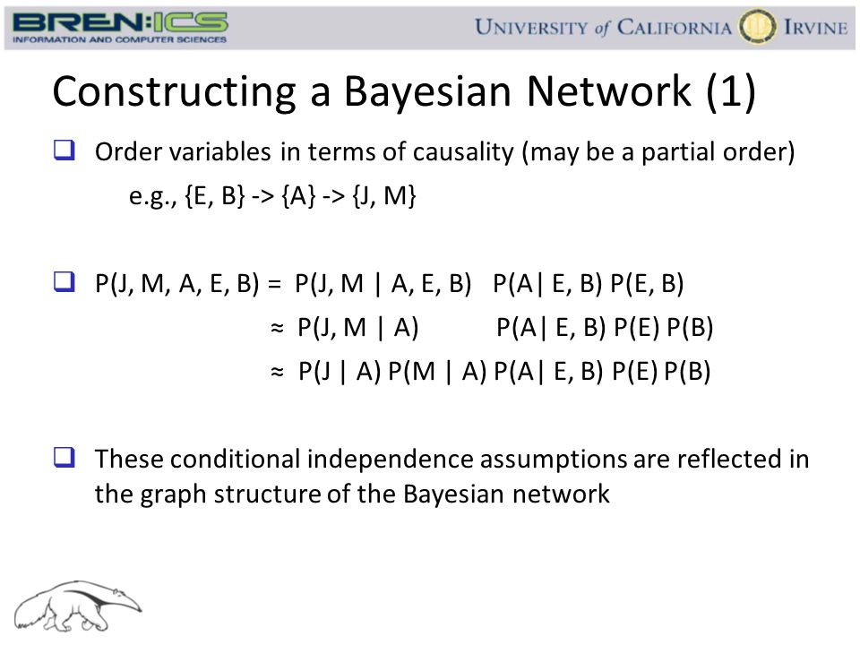 Constructing a Bayesian Network (1)