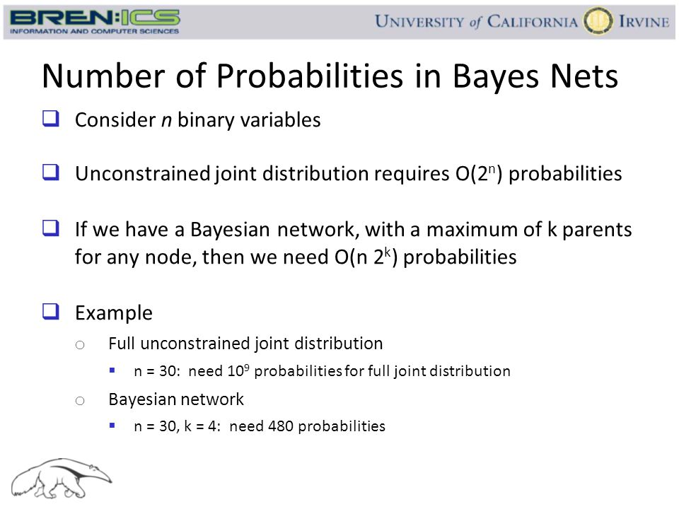 Number of Probabilities in Bayes Nets