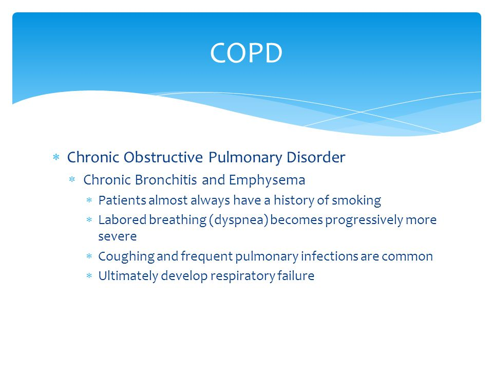 COPD Chronic Obstructive Pulmonary Disorder