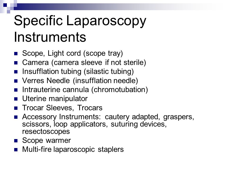 Specific Laparoscopy Instruments