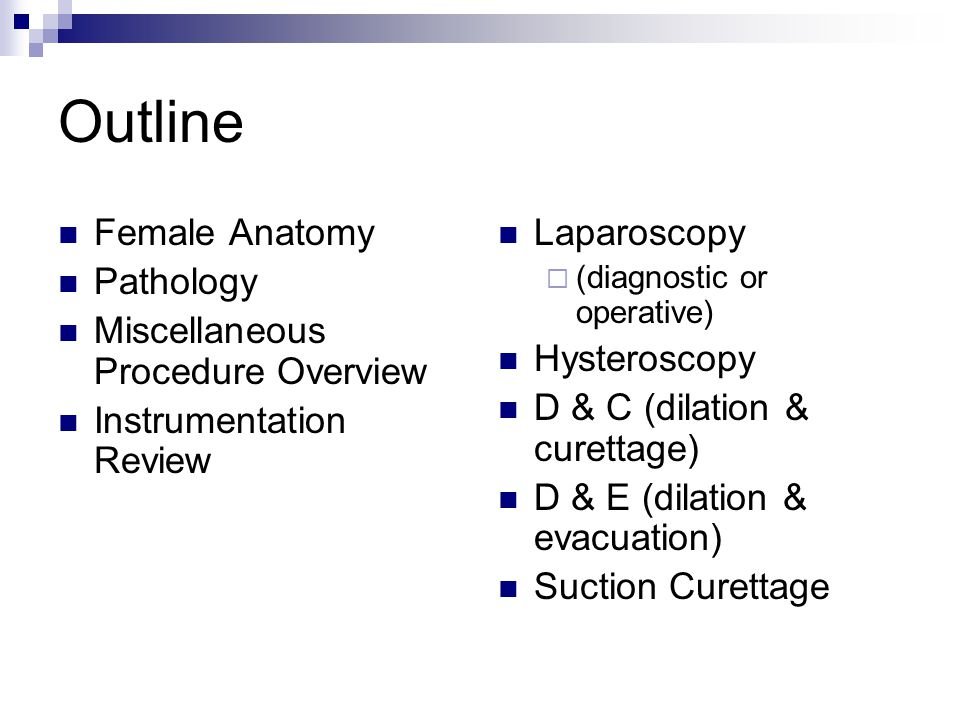 Outline Female Anatomy Pathology Miscellaneous Procedure Overview