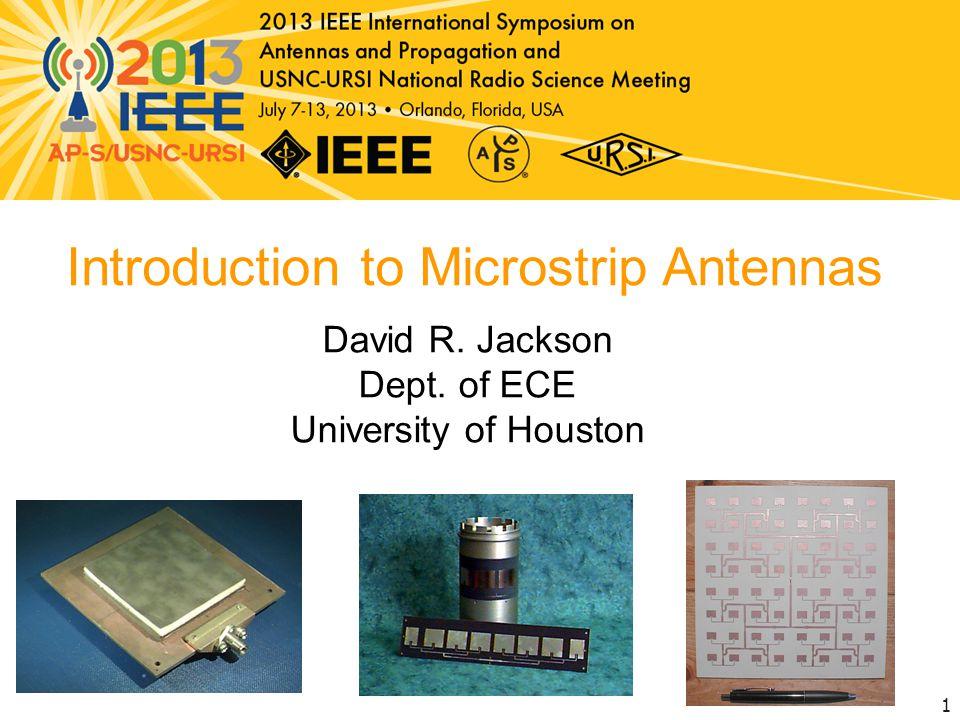 Introduction to Microstrip Antennas