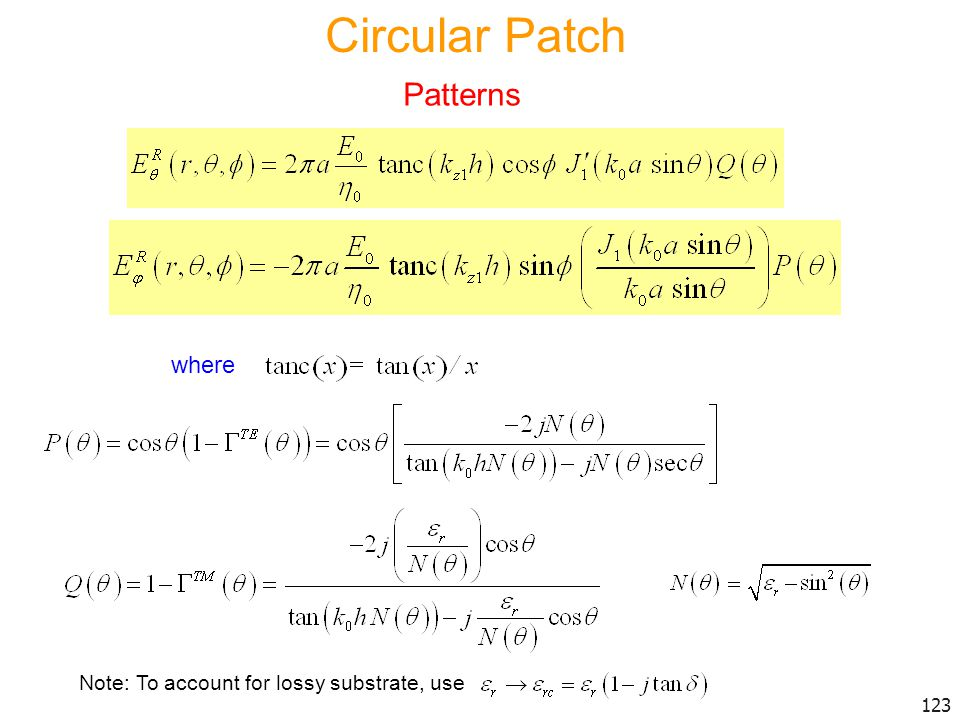 Circular Patch Patterns where