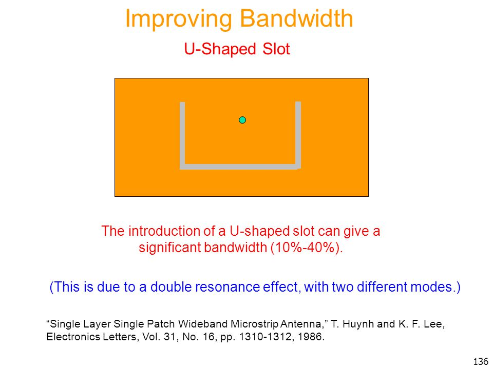Improving Bandwidth U-Shaped Slot