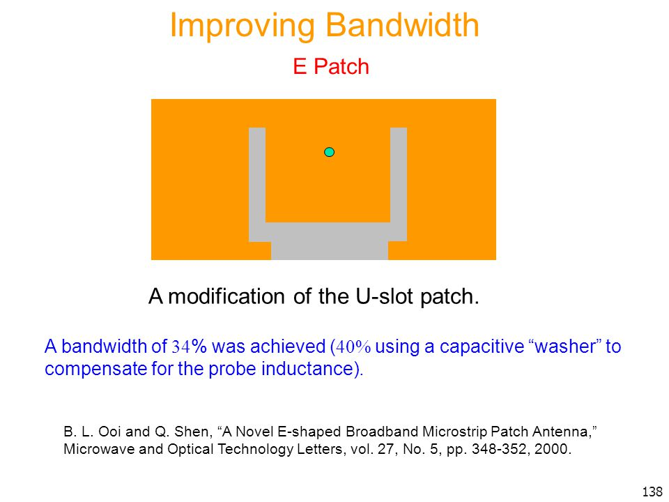 Improving Bandwidth E Patch A modification of the U-slot patch.