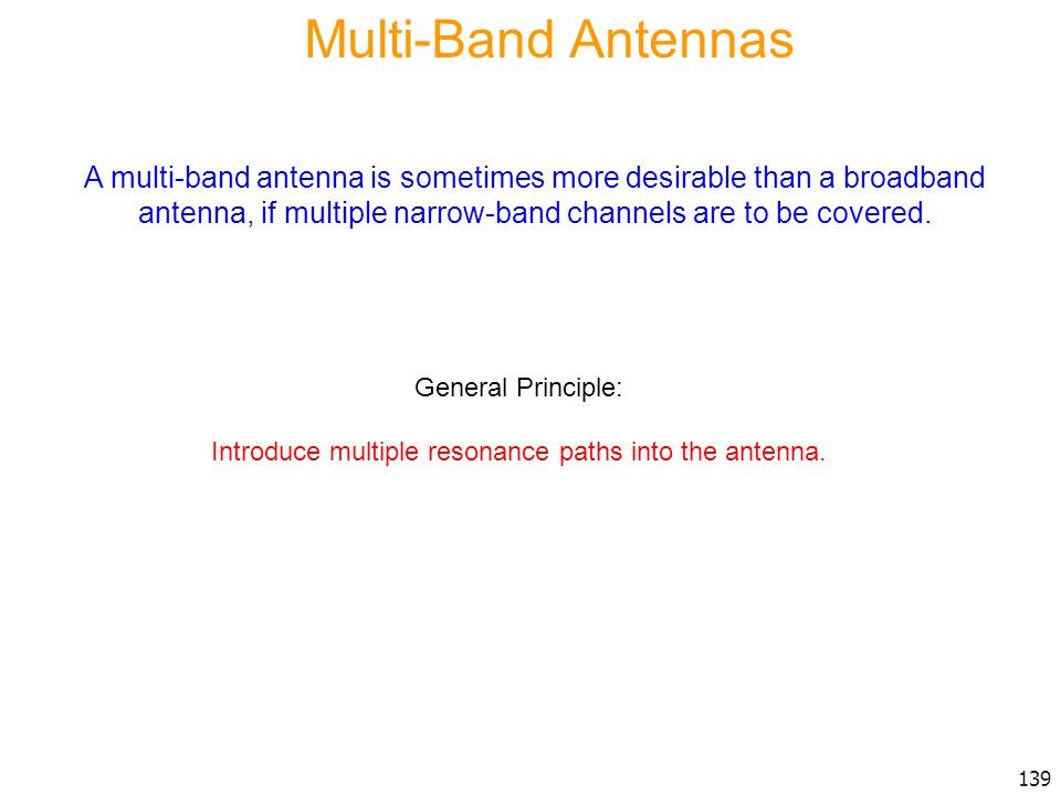 Introduce multiple resonance paths into the antenna.