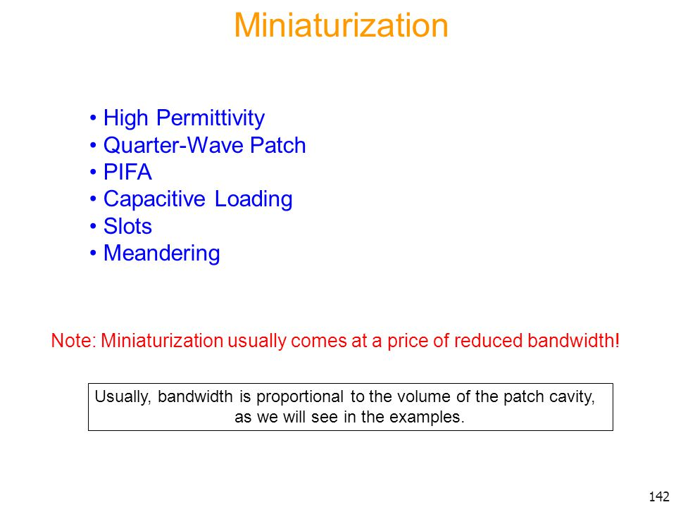 Miniaturization High Permittivity Quarter-Wave Patch PIFA
