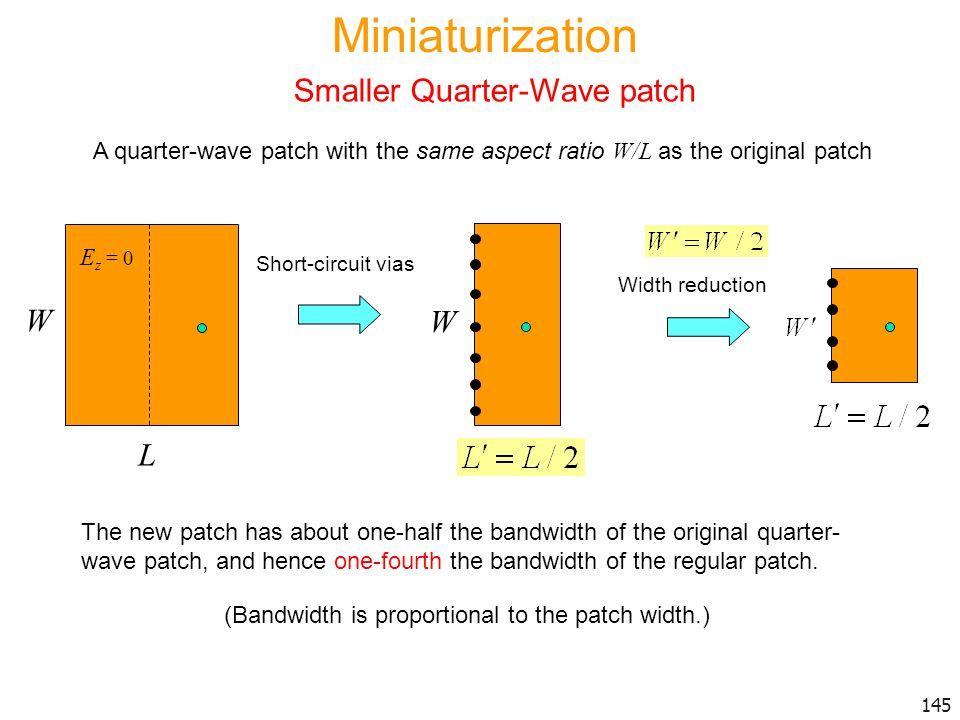 Smaller Quarter-Wave patch