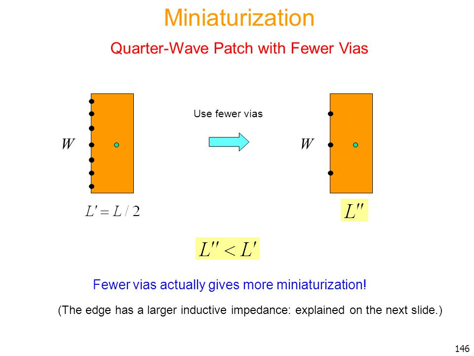 Quarter-Wave Patch with Fewer Vias