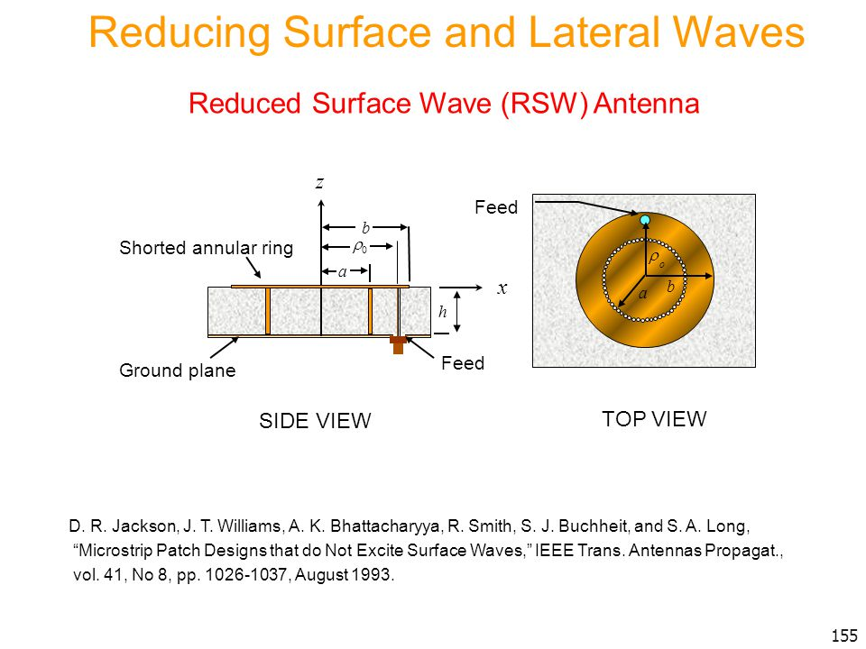 Reducing Surface and Lateral Waves