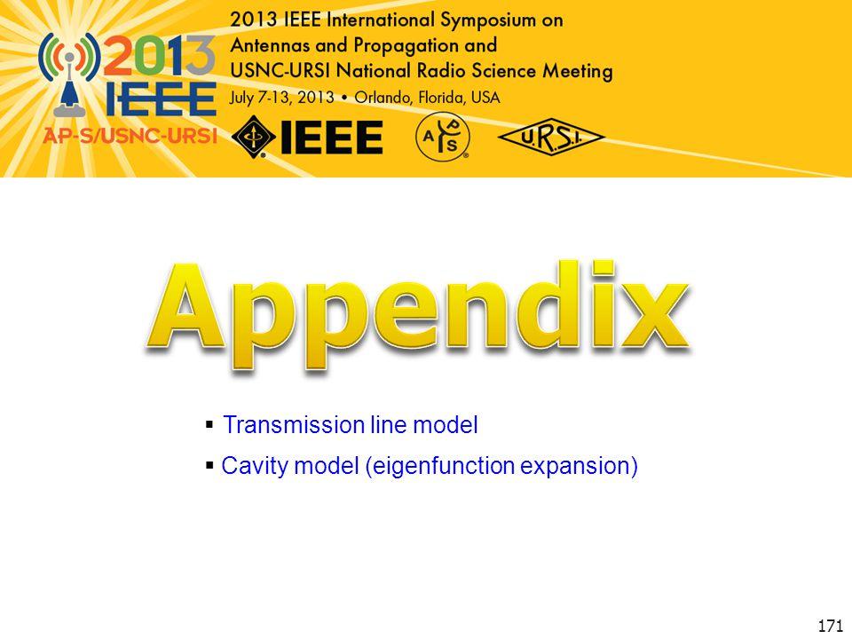 Appendix Transmission line model