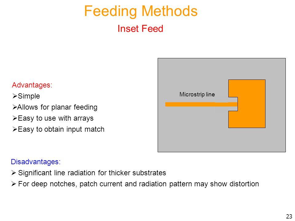 Feeding Methods Inset Feed Advantages: Simple