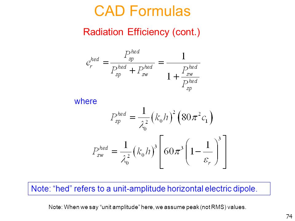 Radiation Efficiency (cont.)