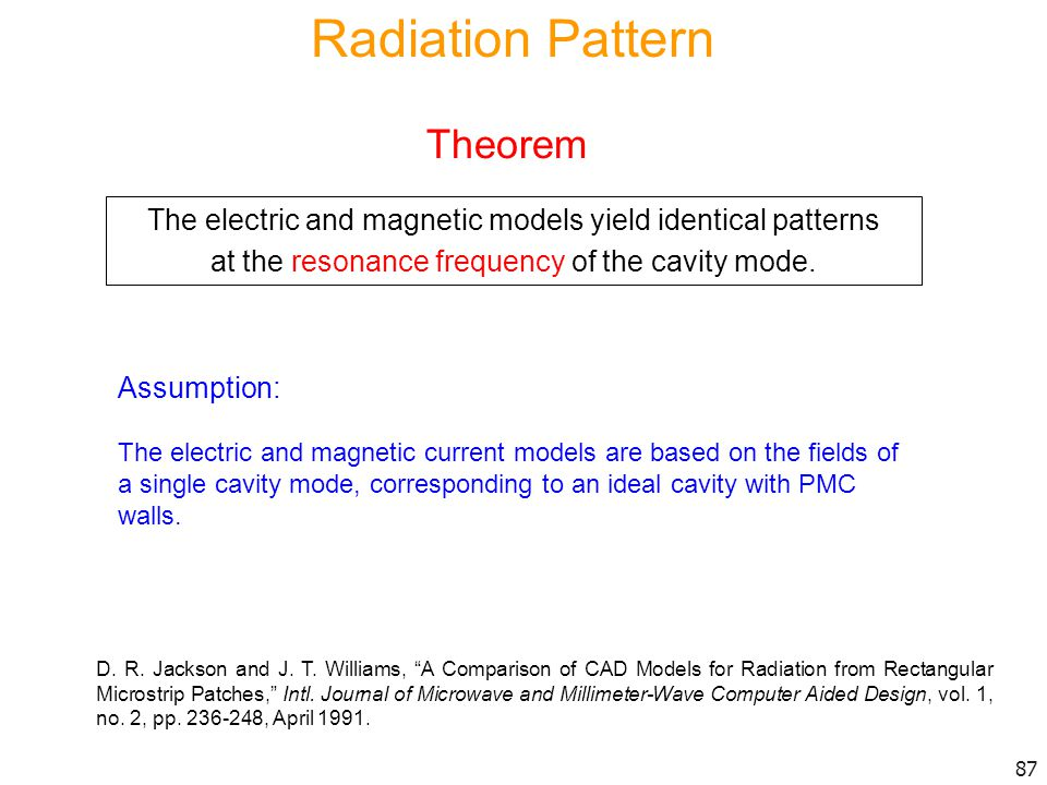 Radiation Pattern Theorem