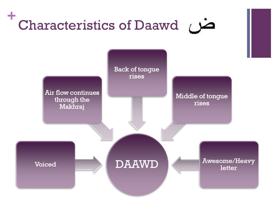 Characteristics of Daawd