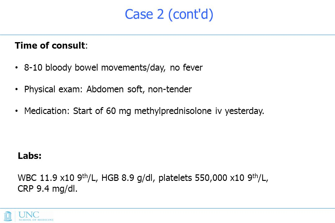 Case 2 (cont d) Time of consult: