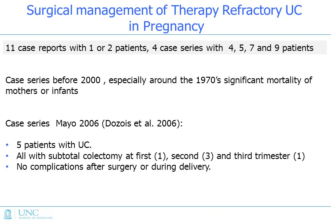 Surgical management of Therapy Refractory UC in Pregnancy