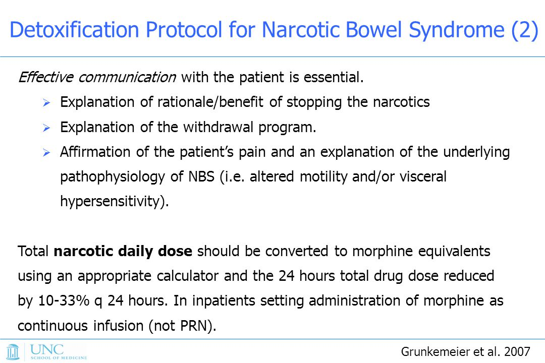 Detoxification Protocol for Narcotic Bowel Syndrome (2)