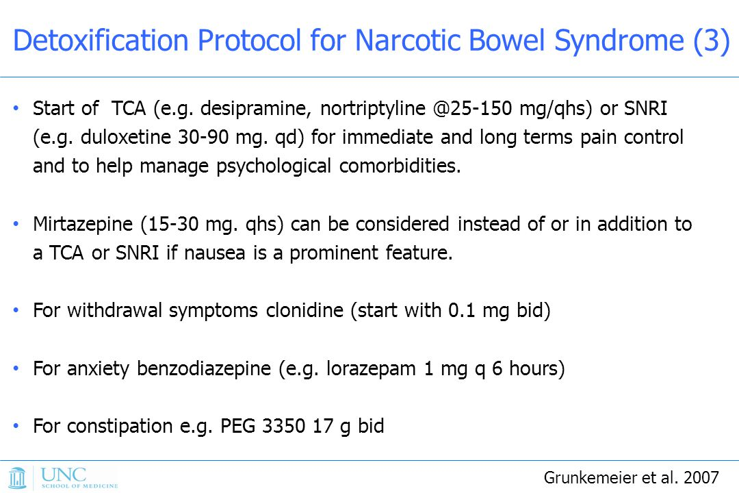 Detoxification Protocol for Narcotic Bowel Syndrome (3)