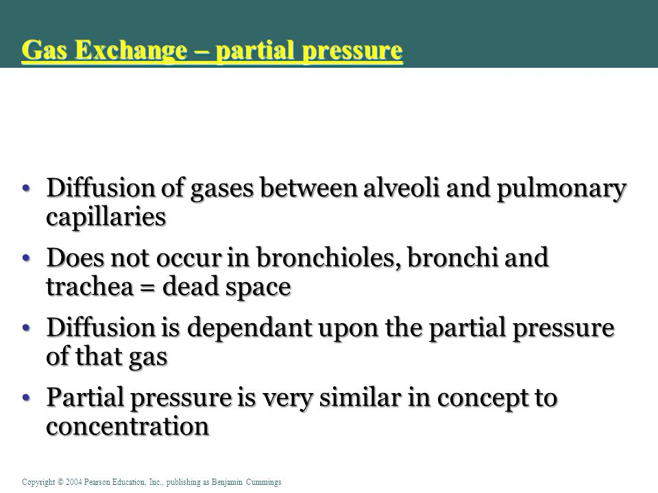 Gas Exchange – partial pressure