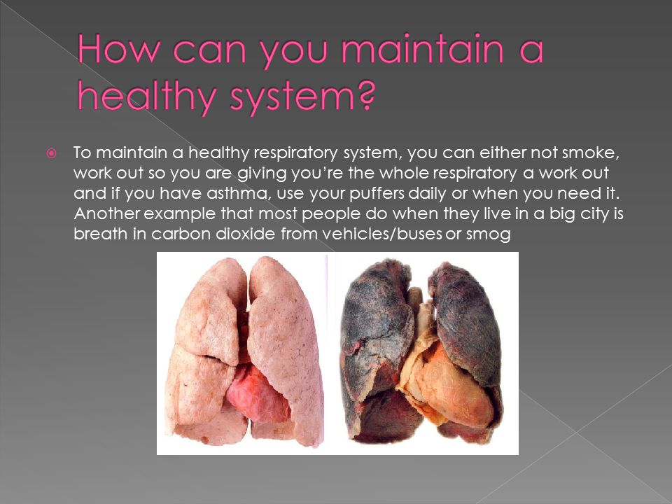 How can you maintain a healthy system