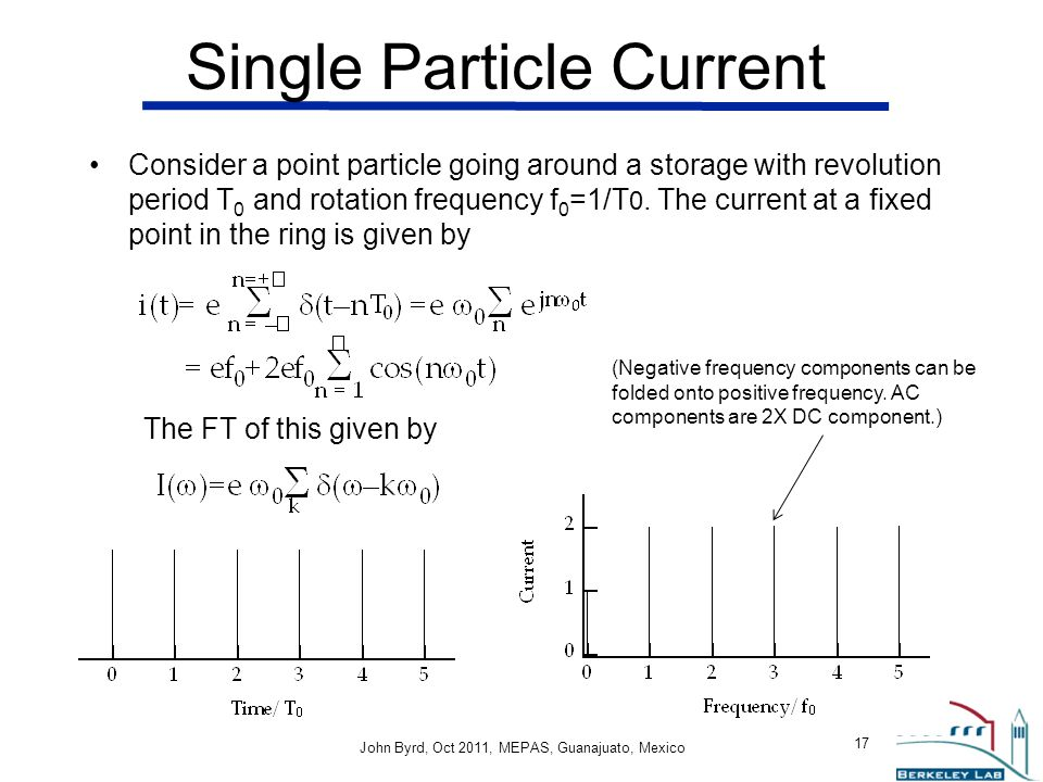 Single Particle Current