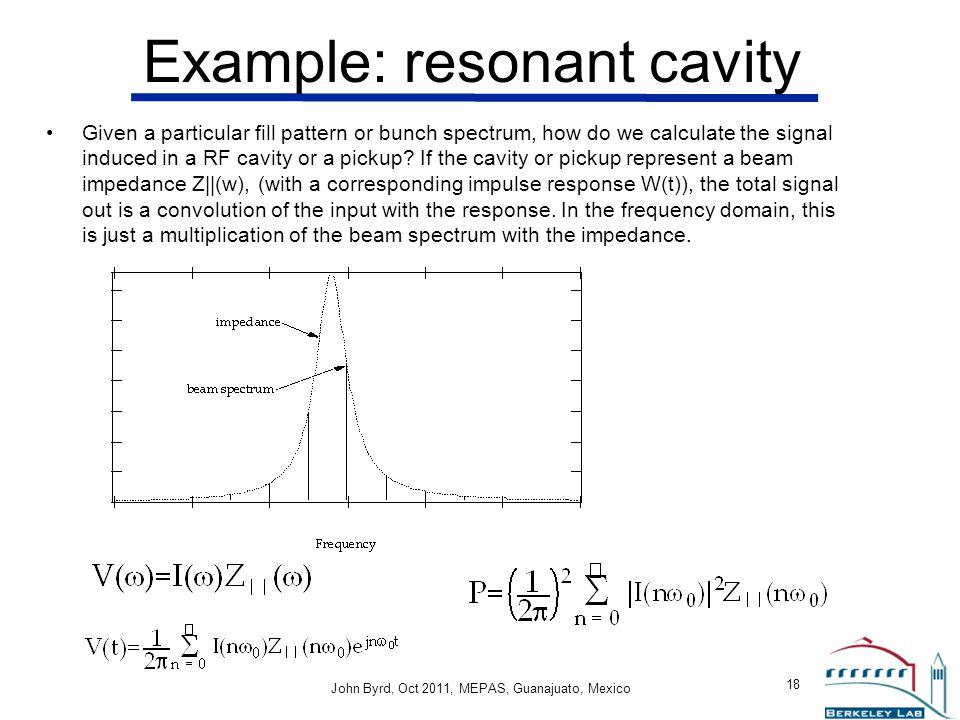 Example: resonant cavity