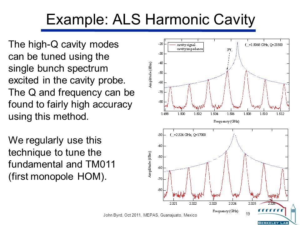Example: ALS Harmonic Cavity
