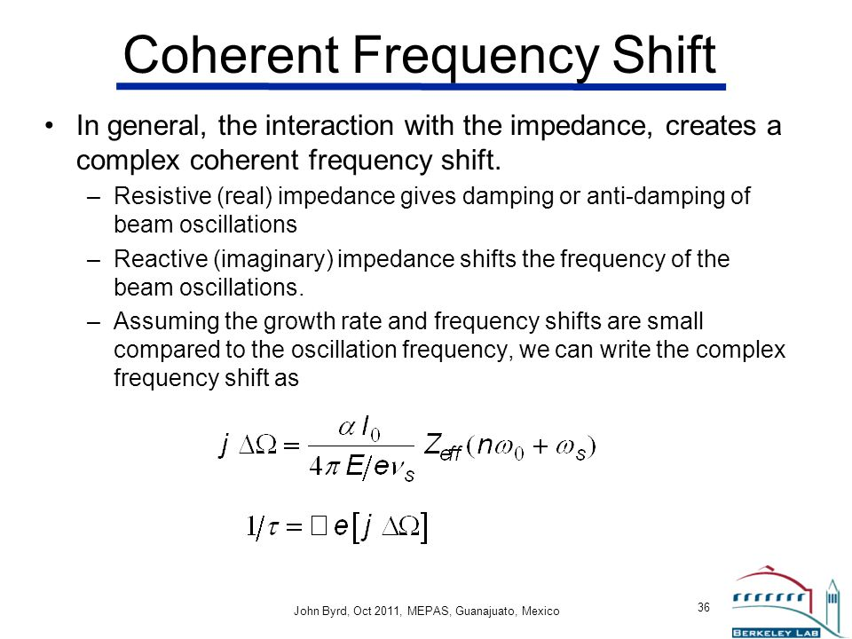 Coherent Frequency Shift