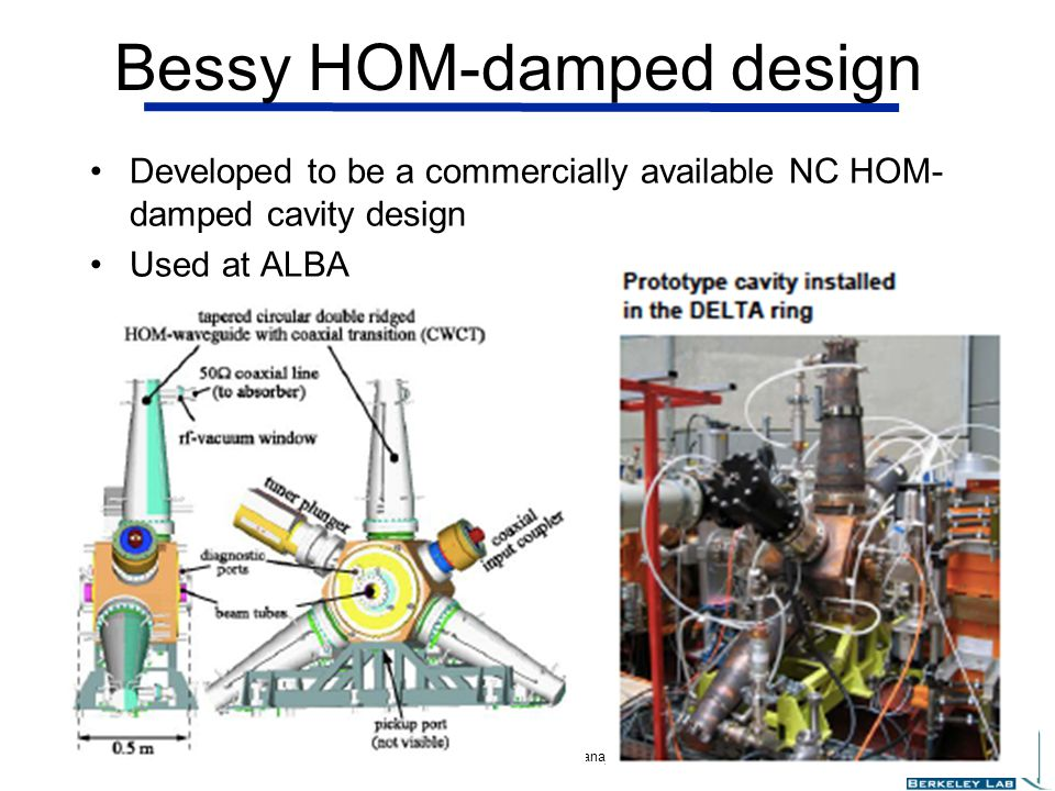 Bessy HOM-damped design