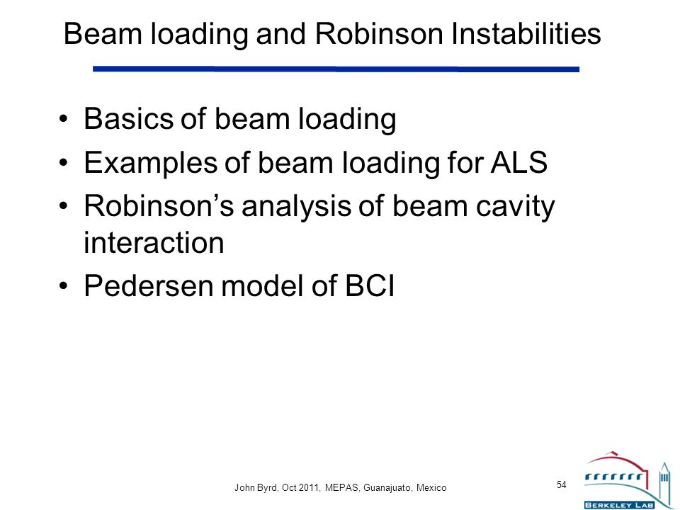 Beam loading and Robinson Instabilities