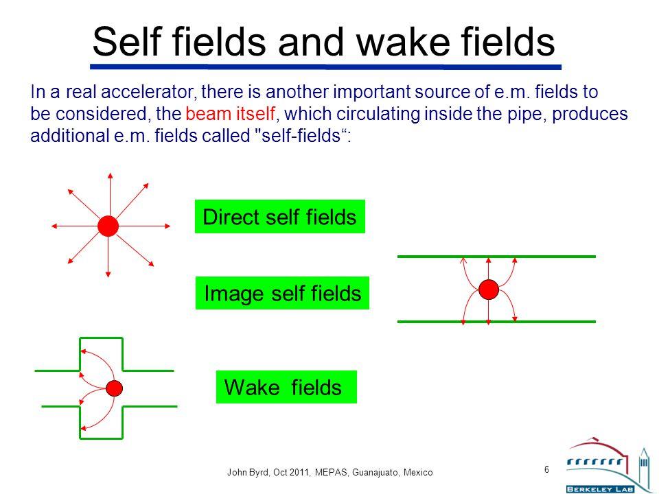 Self fields and wake fields