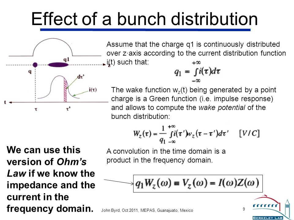 Effect of a bunch distribution
