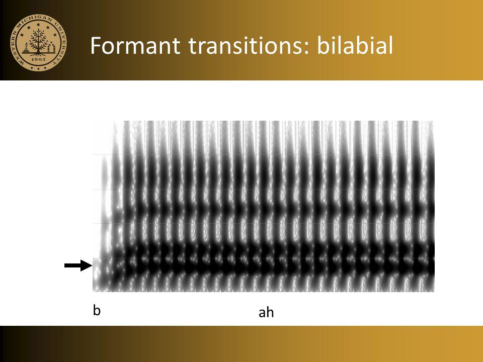 Formant transitions: bilabial