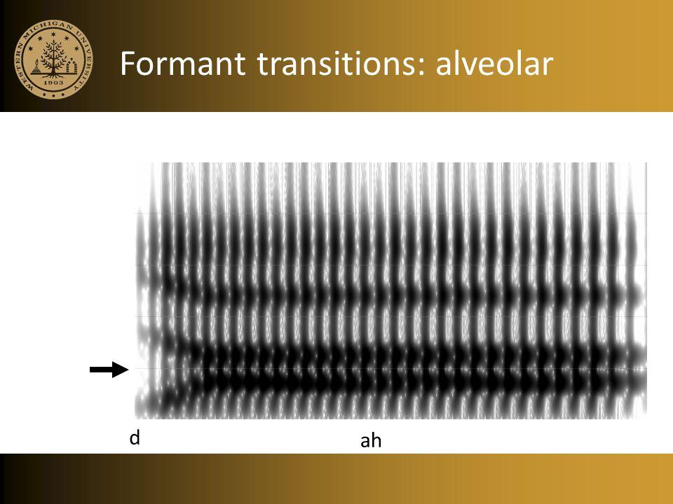 Formant transitions: alveolar
