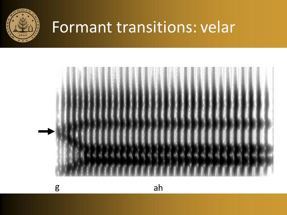 Formant transitions: velar