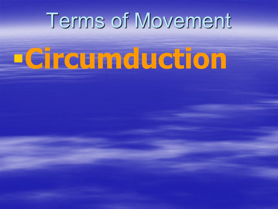 Terms of Movement Circumduction