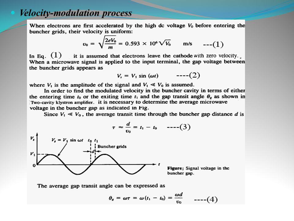 Velocity-modulation process