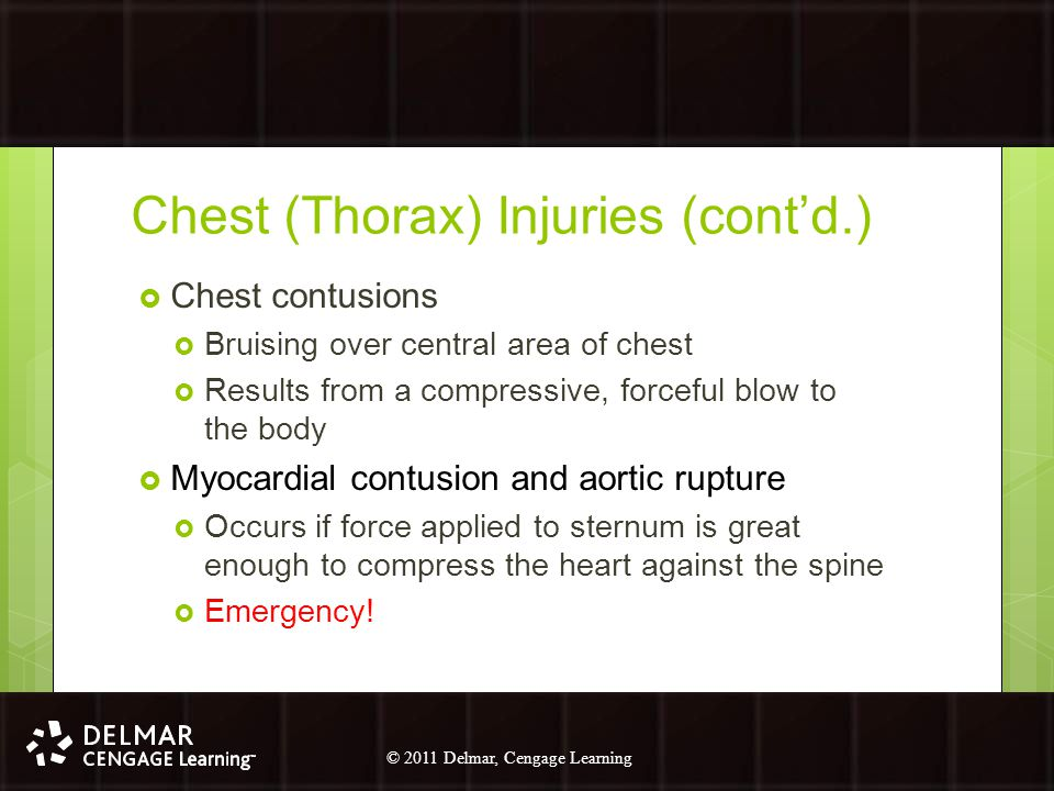 Chest (Thorax) Injuries (cont'd.)