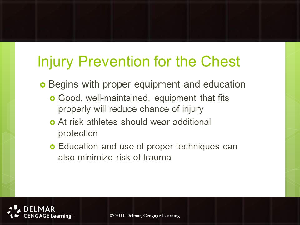 Injury Prevention for the Chest