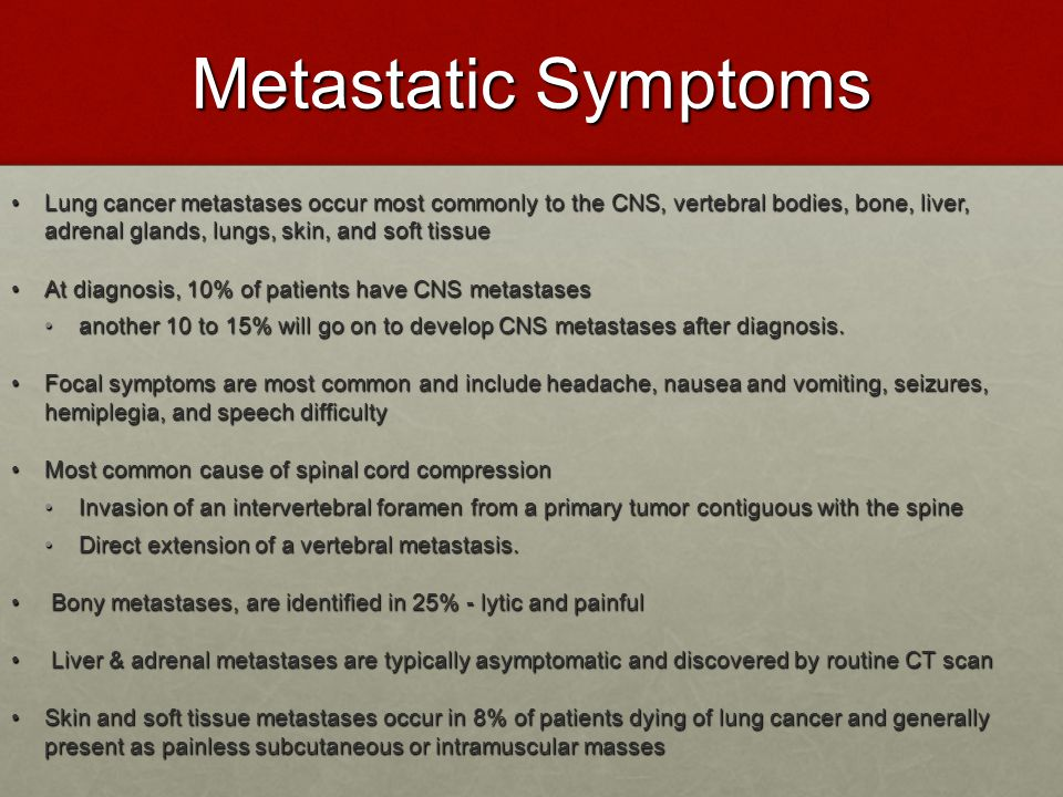 Metastatic Symptoms