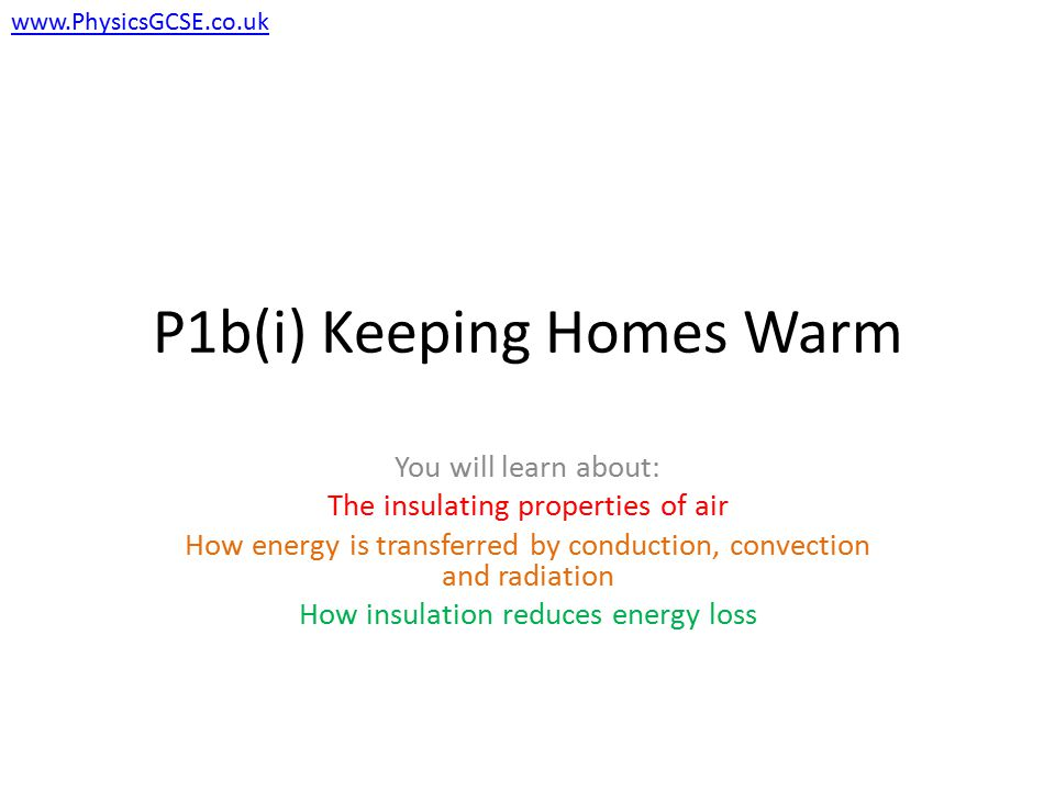 P1b(i) Keeping Homes Warm