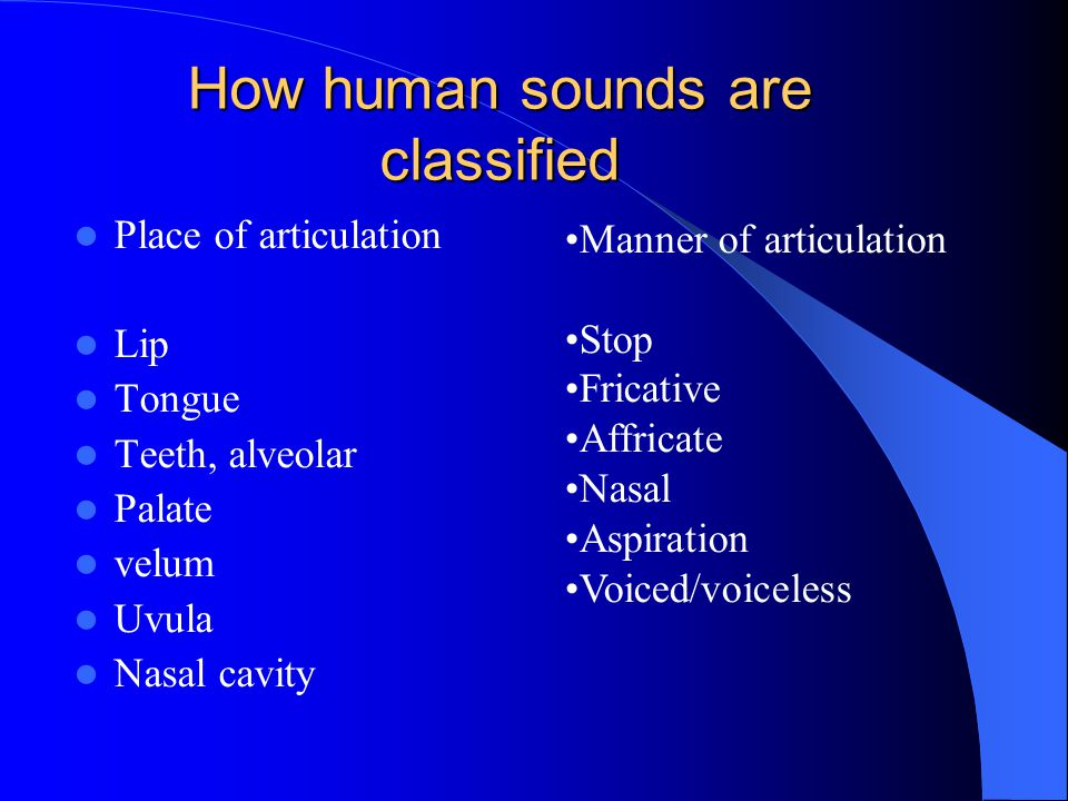 How human sounds are classified