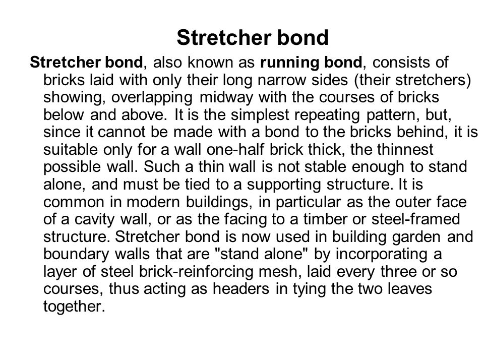 Stretcher bond