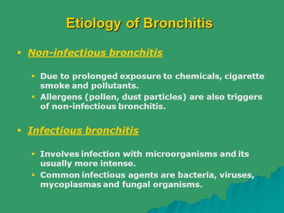 Etiology of Bronchitis